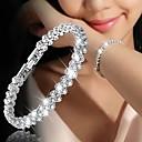 ieftine Brățări-Pentru femei Brățară Clasic Floare Stilat Diamante Artificiale Bijuterii brățară Roz auriu / Argintiu Pentru Zilnic