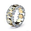 ieftine Inele-Bărbați Pentru femei Inel 1 buc Auriu Inelul de argint 1 Inelul de aur 1 Diamante Artificiale Aliaj European Zilnic Bijuterii Muchie de cuțit