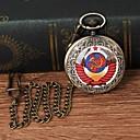 رخيصةأون بولو رجالي-رجالي ساعة جيب كوارتز برونز ساعة كاجوال طرد كبير مماثل موضة غني بالألوان - برونز