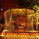 povoljno LED svjetla u traci-3m * 2m ribarske mreže niz svjetla 200 led božićni fenjer krijesnica travnjak ušteda energije topla bijela / rgb / bijela / plava kreativna / zabava / ukrasna 110-120 v 3pcs