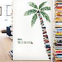 رخيصةأون ملصقات ديكور-النباتات الاستوائية جوز الهند شجرة الجدار ملصق غرفة المعيشة خلفية ذاتية اللصق أريكة خلفية زخرفة ملصق ورقة ملصقات