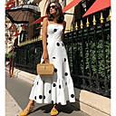 رخيصةأون 3D الألغاز-فستان نسائي ثوب ضيق متموج أساسي طويل للأرض منقط
