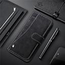 رخيصةأون حافظات / جرابات هواتف جالكسي S-غطاء من أجل Samsung Galaxy S9 / S9 Plus / S8 Plus حامل البطاقات / مع حامل / مغناطيس غطاء كامل للجسم لون سادة قاسي جلد PU