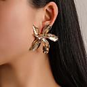 hesapli Küpeler-Kadın's Vidali Küpeler Çiçekli Küpeler Mücevher Altın / Gümüş / Gül Altın Uyumluluk Parti Nişan Karnaval Bar 1 çift