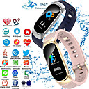 voordelige Slimme polsbandjes-Indear QW16 Dames Smart Armband Android iOS Bluetooth Smart Sportief Waterbestendig Hartslagmeter Bloeddrukmeting Stappenteller Gespreksherinnering Activiteitentracker Slaaptracker sedentaire Reminder