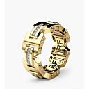 povoljno Prstenje-Muškarci Žene Prsten obećanja 1pc Zlato Rose Gold Kamen Geometric Shape Stilski Angažman Dnevno Jewelry Klasičan Radost Oštrica noža Lijep
