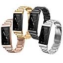 billige armbånd-Urrem for Fitbit Charge 3 Fitbit Klassisk spænde Rustfrit stål Håndledsrem