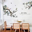 رخيصةأون ملصقات ديكور-الحبر الصيني الجديد والطيور غرفة المعيشة خلفية ذاتية اللصق خلفية التلفزيون جدار ديكورات الجدار الشرفة ملصقات الحائط