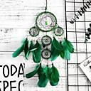 povoljno Zidni ukrasi-ručno izrađeni san catchers zelena memorija interijer 5 prsten san catcher privjesak zid umjetnosti ukras