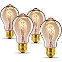 رخيصةأون أكواب و زجاجات-4PCS 40 W E26 / E27 A60(A19) أبيض دافئ 2300 k مكتب / الأعمال / تخفيت / ديكور المتوهجة خمر اديسون ضوء لمبة 220-240 V