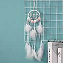 رخيصةأون سماعات الأذن السلكية-حلم الماسكون اليدوية مع الجدار ريشة زخرفة زخرفة زخرفة ديكور المنزل