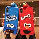 ieftine Caiete & Bilete Lipicioase-Maska Pentru Apple iPhone XS / iPhone XR / iPhone XS Max Cu Stand / IMD / Model Capac Spate Animal / Desene Animate Moale TPU