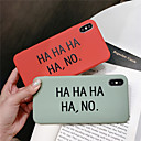 رخيصةأون أغطية أيفون-غطاء من أجل Apple iPhone XS / iPhone XR / iPhone XS Max نموذج غطاء خلفي جملة / كلمة ناعم TPU