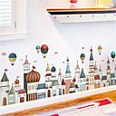 رخيصةأون ملصقات ديكور-الأوروبي العمارة القلعة اللوح الجدار ملصق الكرتون للأطفال غرفة المعيشة غرفة نوم الممر حلية ملصقات