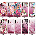 cheap Huawei Case-Case For Samsung Galaxy A5(2018) / A6 (2018) / A6+ (2018) Transparent / Pattern Back Cover Flower Soft TPU
