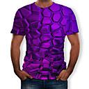 رخيصةأون المكياج & العناية بالأظافر-رجالي طباعة تيشرت, 3D رقبة دائرية / كم قصير