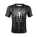 お買い得  メンズTシャツ&タンクトップ-男性用 プリント Tシャツ ラウンドネック スリム ストライプ コットン ブラック