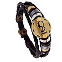 رخيصةأون أساور-رجالي أساور خمر جديلي Gemini بانغك جلد مجوهرات سوار كوفي من أجل هدية مناسب للبس اليومي