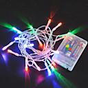 povoljno LED svjetla u traci-3M Žice sa svjetlima 20 LED diode Toplo bijelo / RGB / Bijela Kreativan / New Design / Party Baterije su pogonjene 8pcs
