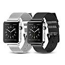رخيصةأون قيود ساعات-حزام إلى Apple Watch Series 4/3/2/1 Apple عقدة ميلانزية ستانلس ستيل شريط المعصم