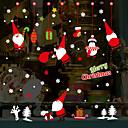 رخيصةأون الستائر-عيد الميلاد الكرتون سانتا كلوز ملصقات الحائط - ملصقات الحائط الطائرة النقل / غرفة الدراسة المشهد / مكتب / غرفة الطعام / المطبخ