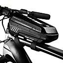رخيصةأون حقائب الدراجة-1 L حقيبة الهاتف الخليوي مقاوم للماء المحمول سوستة مقاومة للماء حقيبة الدراجة جلد PU EVA حقيبة الدراجة حقيبة الدراجة أخضر الدراجة