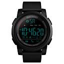 voordelige Merk Horloge-SKMEI Heren Militair horloge Digitaal Silicone Blauw / Groen 50 m Militair Bluetooth Smart Digitaal Voor Buiten Modieus - Zwart Groen Blauw Een jaar Levensduur Batterij