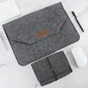 tanie Etui / Pokrowce do Samsunga Galaxy A-pokrowiec na laptopa z filcu z naturalnej wełny oraz kompatybilny z zasilaczem 11-15 cali macbook pro macbook air laptop szary czarny