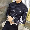 رخيصةأون قمصان رجالي-رجالي طباعة مقاس أوروبي / أمريكي قميص, هندسي