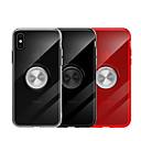 رخيصةأون أغطية أيفون-غطاء من أجل Apple iPhone XS / iPhone XR / iPhone XS Max حامل الخاتم غطاء خلفي لون سادة ناعم TPU