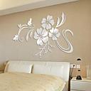 رخيصةأون ملصقات ديكور-لواصق حائط مزخرفة - لواصق / ملصقات الحائط على المرآة الأزهار / النباتية / 3D غرفة النوم / غرفة دراسة / مكتب