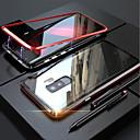 Недорогие Чехлы и кейсы для Galaxy S-Кейс для Назначение SSamsung Galaxy S9 / S9 Plus / S8 Plus Магнитный Чехол Однотонный Твердый Закаленное стекло