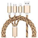 povoljno Odvijači i setovi odvijača-Micro USB Kabel 1,3 (4.3Ft) All-in-1 / U obliku pletenice Najlon USB kabelski adapter Za Samsung / Huawei / Xiaomi