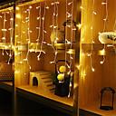 povoljno Kompleti svjetala-4m * 0.6m Setovi svjetala / Žice sa svjetlima 96 LED diode Toplo bijelo / Bijela / Plavo Vodootporno / Party / Ukrasno 220-240 V / 110-120 V 1pc