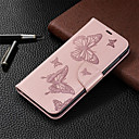 Недорогие Чехлы и кейсы для Galaxy Note 8-Кейс для Назначение SSamsung Galaxy A6 (2018) / A6+ (2018) / Galaxy A7(2018) Кошелек / Бумажник для карт / со стендом Чехол Однотонный / Бабочка Твердый Кожа PU