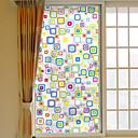 رخيصةأون الستائر-لون الهندسة البلاستيكية القابلة للإزالة فيلم النافذة&ampamp، ampamp، حلية، الزخرفة، هندسي
