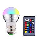 povoljno LED Smart žarulje-1pc 3 W Smart LED žarulje 200-250 lm E14 E26 / E27 1 LED zrnca SMD 5050 Smart Zatamnjen Na daljinsko upravljanje RGBW 85-265 V
