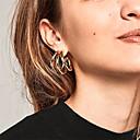 cheap Earrings-Women's Hoop Earrings Earrings Geometrical Simple Korean Fashion Modern Earrings Jewelry Gold For Daily Street Holiday Work 1 Pair