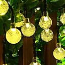 povoljno LED svjetla u traci-3M Žice sa svjetlima 20 LED diode Toplo bijelo Ukrasno Napelemes 1set