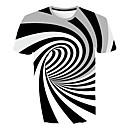 povoljno Muške majice i potkošulje-Veličina EU / SAD Majica s rukavima Muškarci Prugasti uzorak / Geometrijski oblici / 3D Okrugli izrez Slim Obala