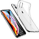 cheap iPhone Cases-Case For Apple iPhone 11 / iPhone 11 Pro / iPhone 11 Pro Max Shockproof / Ultra-thin / Transparent Back Cover Solid Colored Soft TPU
