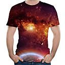voordelige Galaxy J5(2017) Hoesjes / covers-Heren Street chic / overdreven Print T-shirt Kleurenblok / 3D / Grafisch Rood