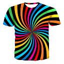 رخيصةأون تيشيرتات وتانك توب رجالي-رجالي تيشرت قياس كبير رقبة دائرية - أناقة الشارع / بانغك & قوطي طباعة ألوان متناوبة / 3D / الرسم التقزح اللوني XXXXL