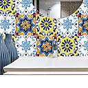رخيصةأون ديكور الحائط-أزياء ملونة نمط الزهور البلاستيكية للماء ملصقات الحائط ذاتية اللصق - طائرة ملصقات الحائط النقل / غرفة الدراسة المناظر الطبيعية / مكتب / غرفة الطعام / المطبخ