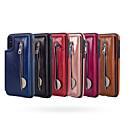 رخيصةأون أغطية أيفون-غطاء من أجل Apple iPhone XS / iPhone XR / iPhone XS Max محفظة غطاء خلفي لون سادة قاسي جلد PU