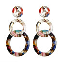cheap Earrings-Women's Drop Earrings Geometrical Artistic Basic Colorful Resin Earrings Jewelry Light Brown / Beige / White / Silver For Graduation Gift Daily Street Holiday 1 Pair