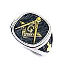 povoljno Prstenje-Muškarci Prsten Masonski prstenovi 1pc Crn Tikovina Dnevno Ulica Jewelry