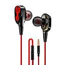 povoljno Muški satovi-LITBest Wired earphone High bass dual drive stereo Žičana slušalica za stavljanje u uho Žičano S mikrofonom S kontrolom glasnoće Kontrola telefona mobitel