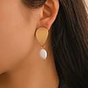 cheap Earrings-Women's Drop Earrings Pear Cut Drop Simple Baroque Sweet Pearl Gold Plated Earrings Jewelry Gold For Gift Daily Festival 1 Pair