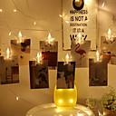 povoljno LED svjetla u traci-3m držači za foto kvačice niz svjetala pentagram oblik 20 leds toplo bijele ukrasne aa baterije powered 1set